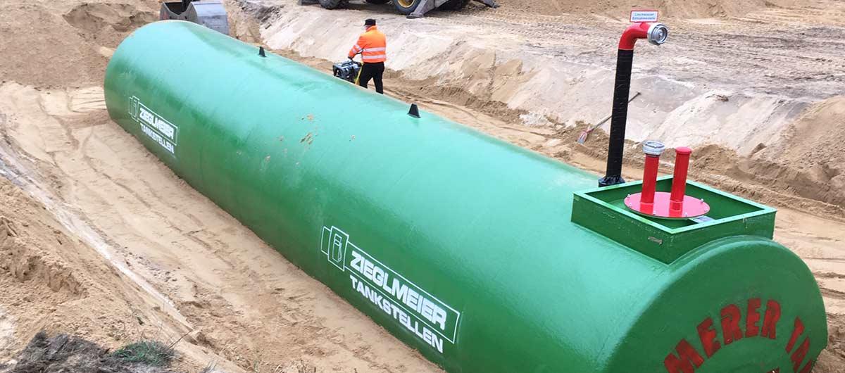 Neue Löschwassertanks